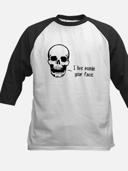A Skull Lives Inside Your Face Baseball Jersey