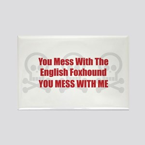 Mess With Foxhound Rectangle Magnet