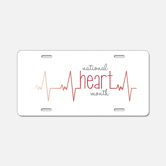National Heart Month Aluminum License Plate