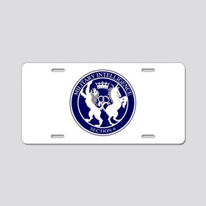 MI6 Logo Button Aluminum License Plate