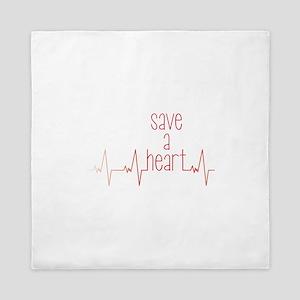 Save a Heart Queen Duvet