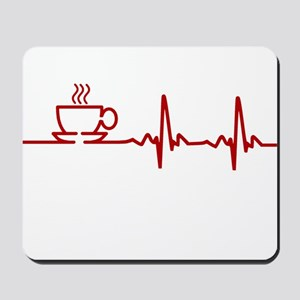 Morning Coffee Heartbeat EKG Mousepad