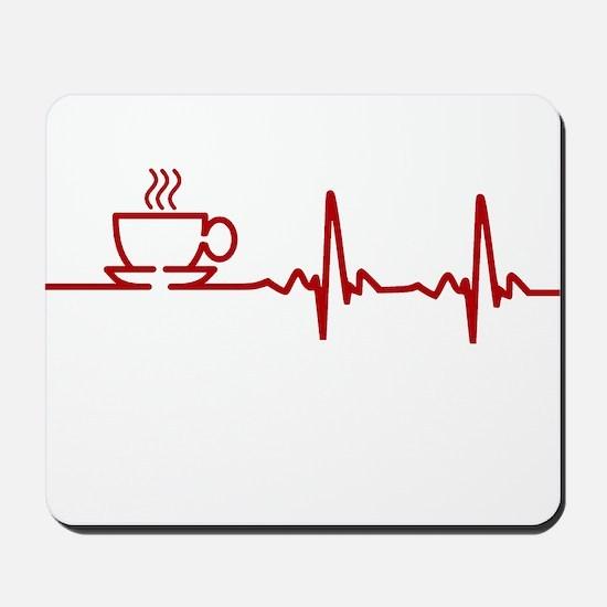 Morning Coffee Heartbeat EKG Mousepad