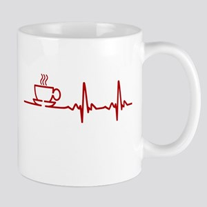 Morning Coffee Heartbeat EKG Mugs