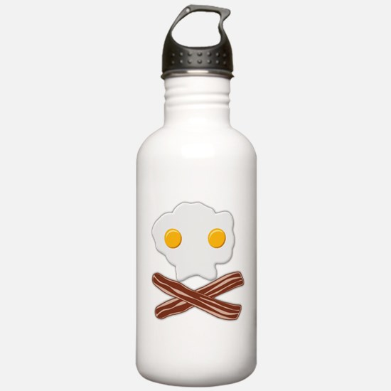Eggs and Bacon Skull Water Bottle