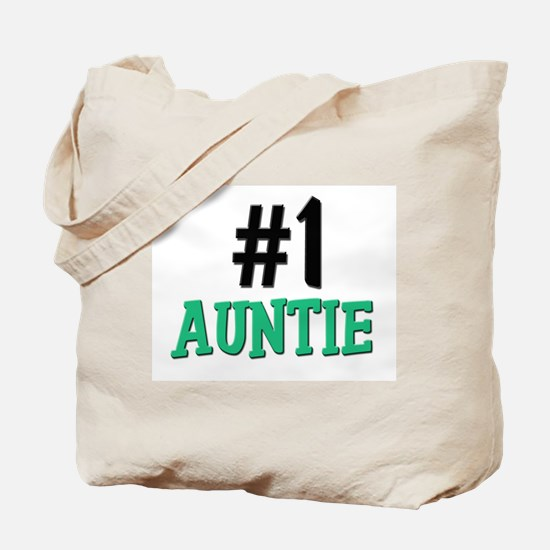 Number 1 AUNTIE Tote Bag