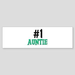 Number 1 AUNTIE Bumper Sticker