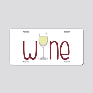 Wine Aluminum License Plate