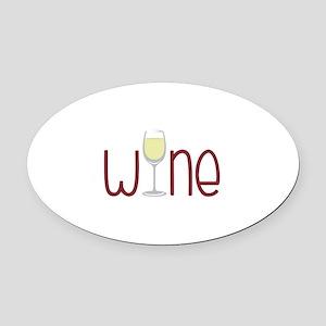 Wine Oval Car Magnet