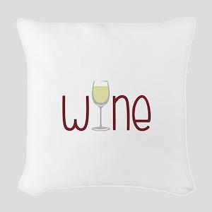 Wine Woven Throw Pillow