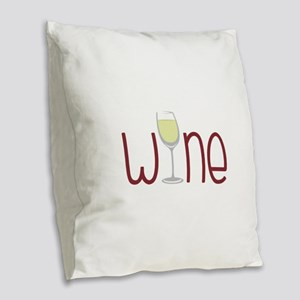 Wine Burlap Throw Pillow