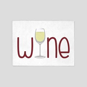 Wine 5'x7'Area Rug