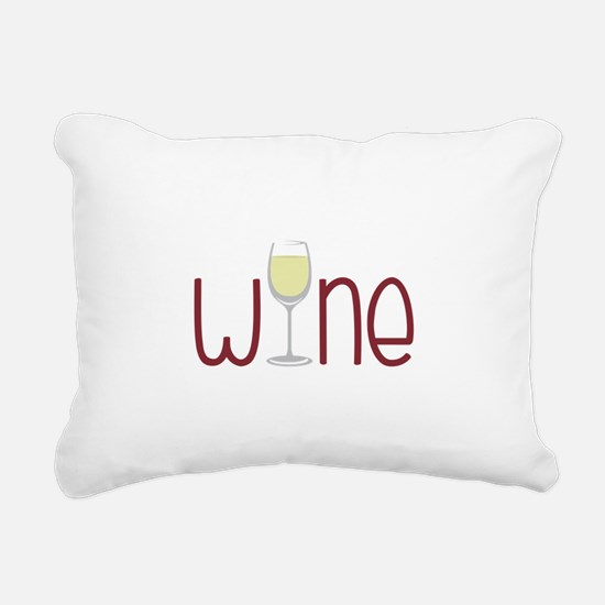 Wine Rectangular Canvas Pillow