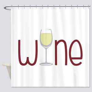 Wine Shower Curtain