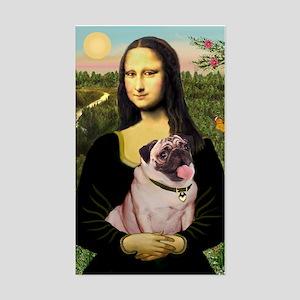 Mona's Fawn Pug (#2) Sticker (Rectangle)