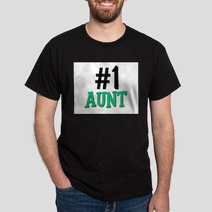 Number 1 AUNT Dark T-Shirt