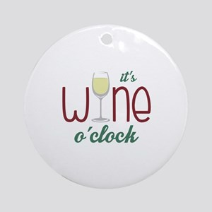 Wine OClock Ornament (Round)