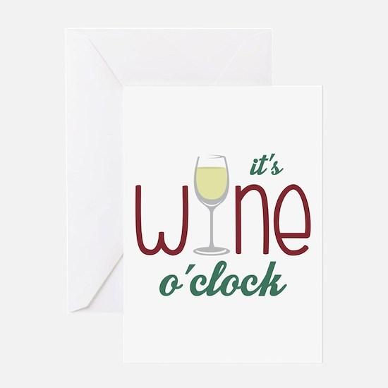 Wine OClock Greeting Cards