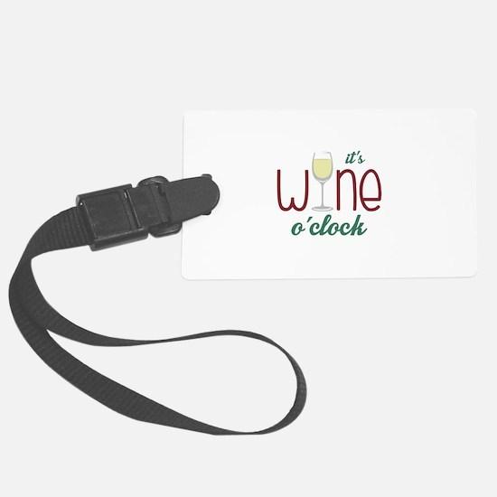Wine OClock Luggage Tag