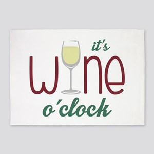 Wine OClock 5'x7'Area Rug