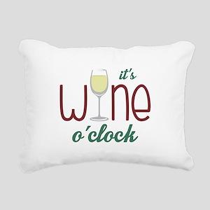 Wine OClock Rectangular Canvas Pillow
