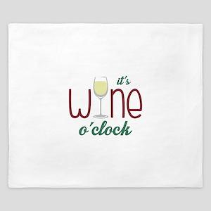 Wine OClock King Duvet