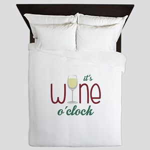Wine OClock Queen Duvet