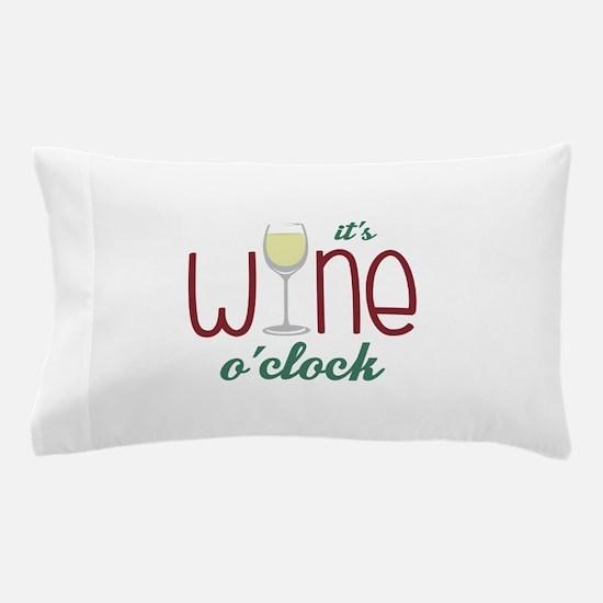Wine OClock Pillow Case