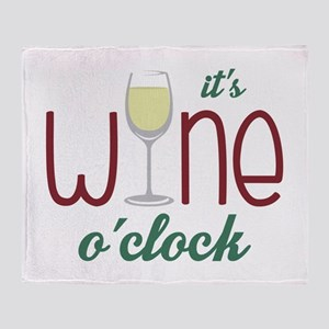 Wine OClock Throw Blanket