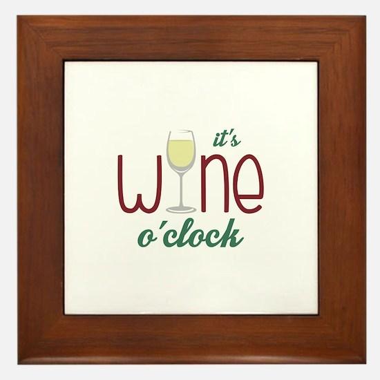 Wine OClock Framed Tile