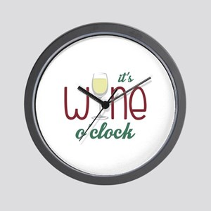 Wine OClock Wall Clock