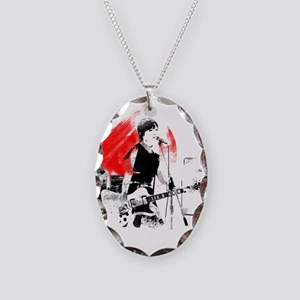 Japanese Artist Necklace Oval Charm