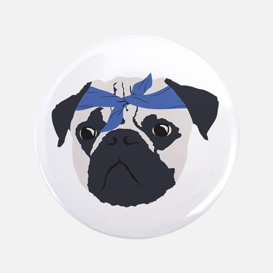 "Unique Funny puggle 3.5"" Button"
