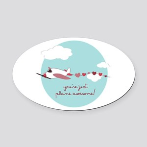 Plane Awesome Oval Car Magnet