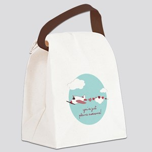 Plane Awesome Canvas Lunch Bag