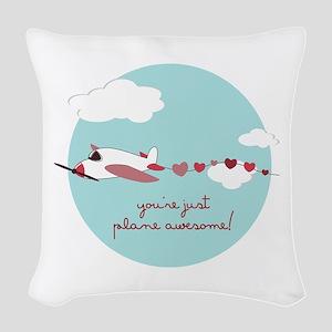 Plane Awesome Woven Throw Pillow