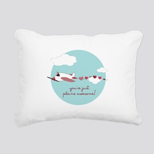 Plane Awesome Rectangular Canvas Pillow
