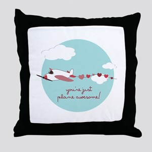Plane Awesome Throw Pillow