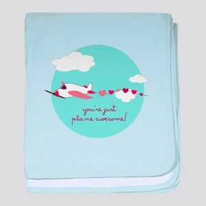 Plane Awesome baby blanket