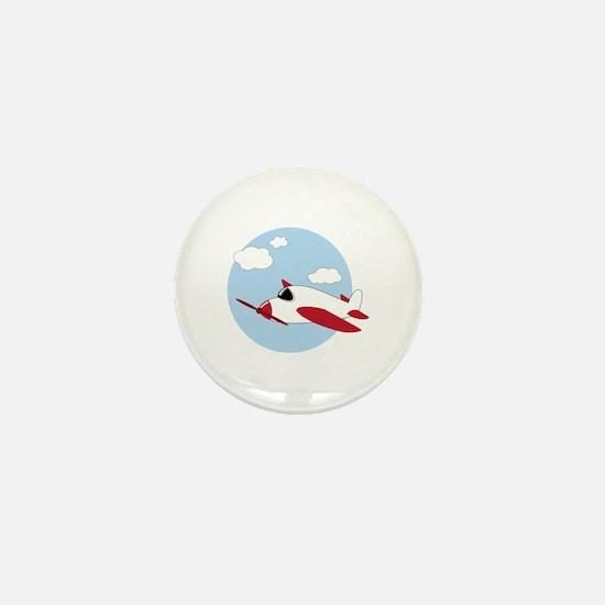 Airplane Mini Button