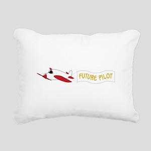 Future Pilot Rectangular Canvas Pillow