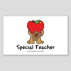 Special Teacher (bear) Rectangle Sticker