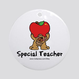 Special Teacher (bear) Ornament (Round)