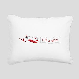 It's A Boy! Rectangular Canvas Pillow