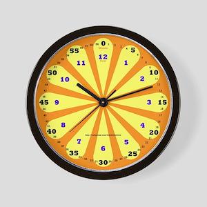Orange Learning Wall Clock