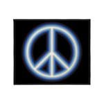 Blue Peace Symbol Throw Blanket