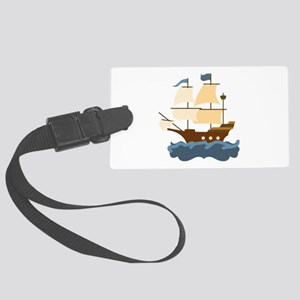 Wooden Ship Luggage Tag