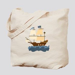 Wooden Ship Tote Bag