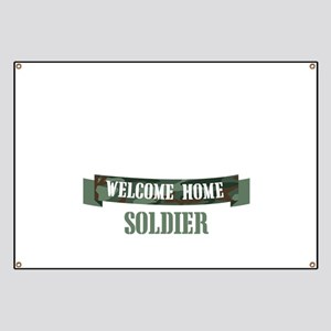 Welcome Home Soldier Banner
