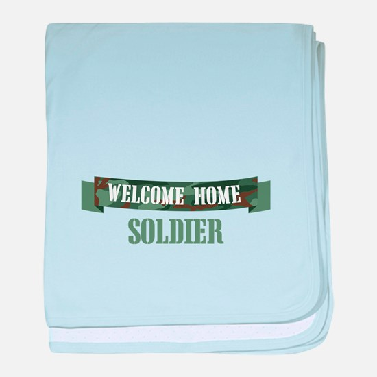 Welcome Home Soldier baby blanket